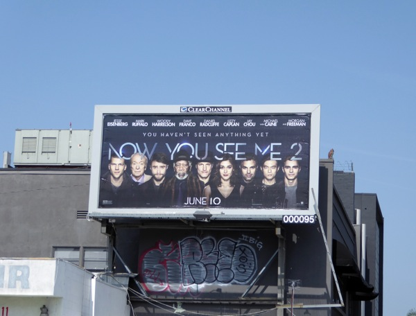 Now You See Me 2 billboard