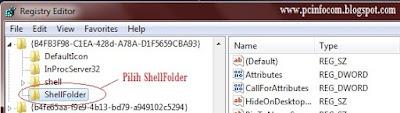 pilih ShellFolder