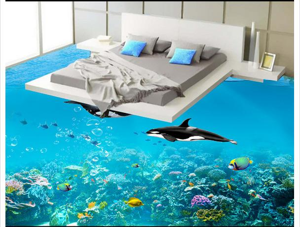 Bedroom 3D floors -  3D flooring ideas