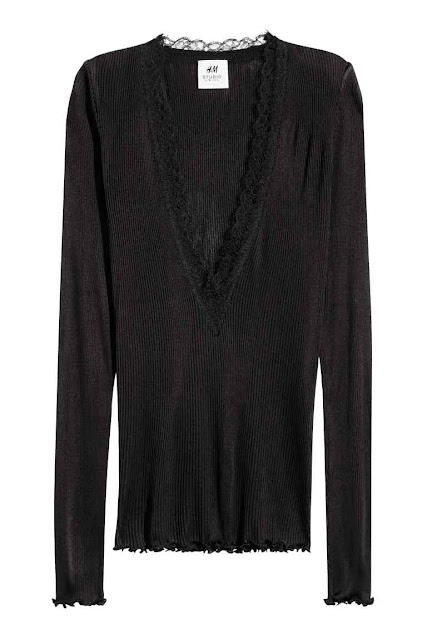 H&M V Neck Top in a silk Blend
