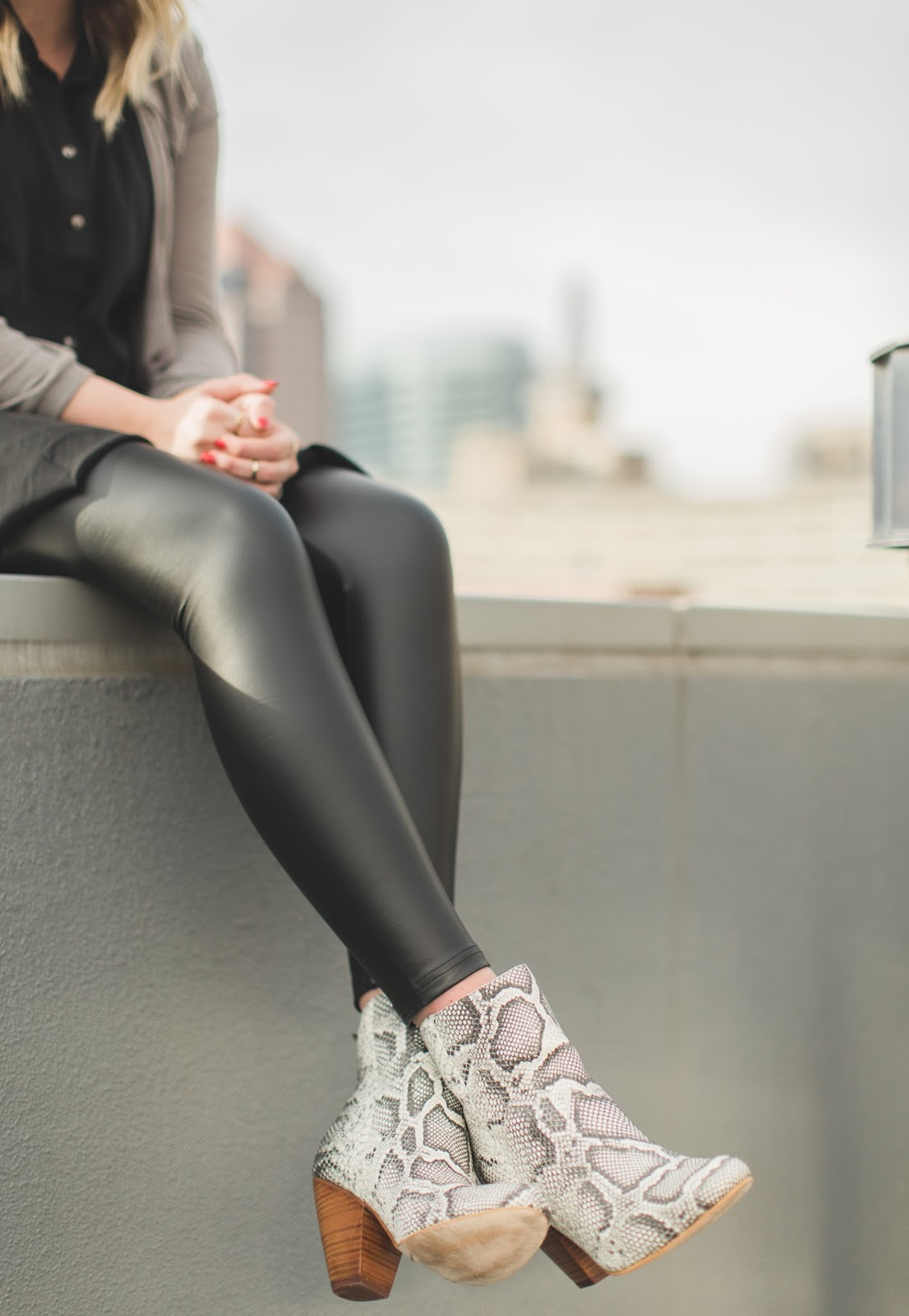 Snakeskin Boots, Leather Leggings, City Style