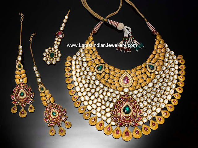 Designer Kundan Polki Bridal Jewellery Set Latest Indian