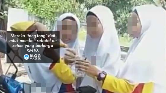 (Video) Pelajar Perempuan Tingkatan 3 Syok Minum Air Ketum Kat Tempat Awam