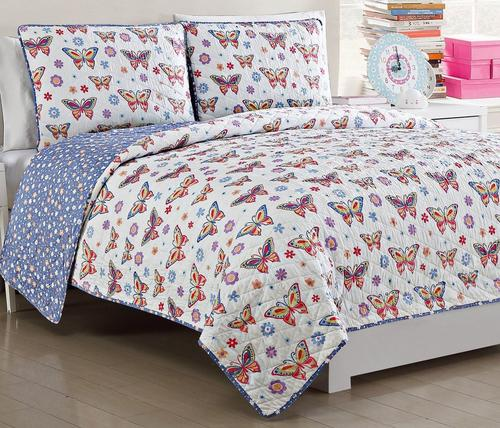 Kids Zone Delilah Reversible Quilt Set