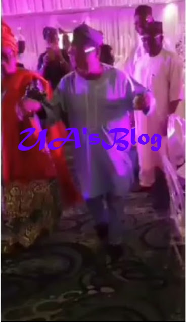 Watch Video..EX-president Obasanjo and his wife take to the dance floor to celebrate his PhD degree