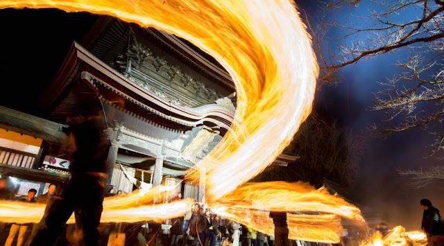 Fire Festival - Hifuri-shinji (Shinto ritual), Aso-jinja Shrine, Aso, Kumamoto