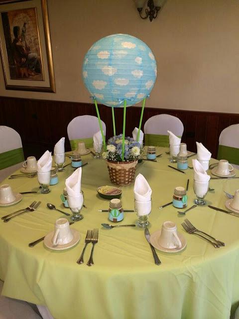 Centros de mesa con globos de papel la tienda de kloe - Centros de mesa de papel ...