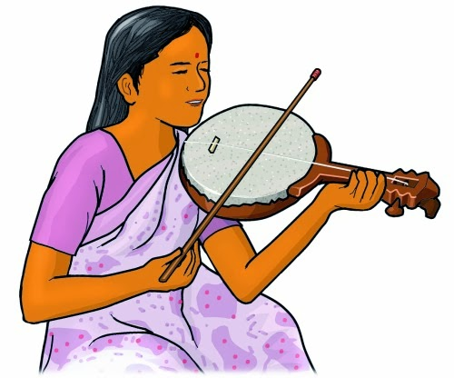 Indian musical instrument. pulluvan veena.