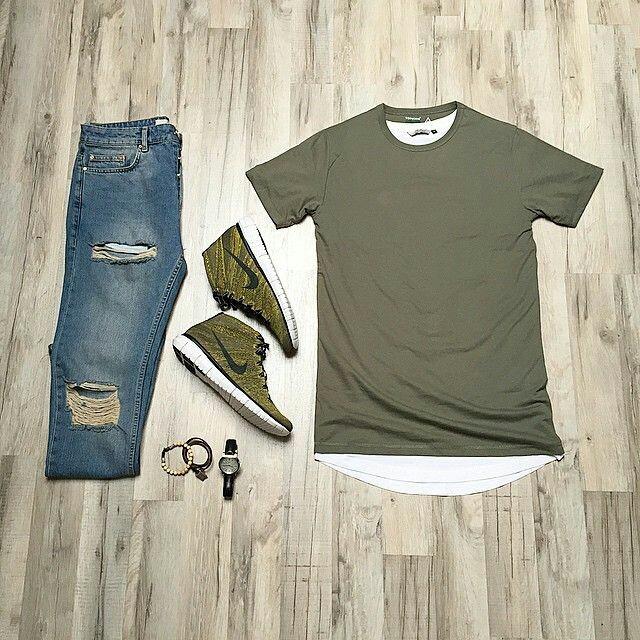 Look Masculino Verde Militar