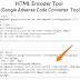 Google Adsense Converter(Escape tool) HTML to XML Converter
