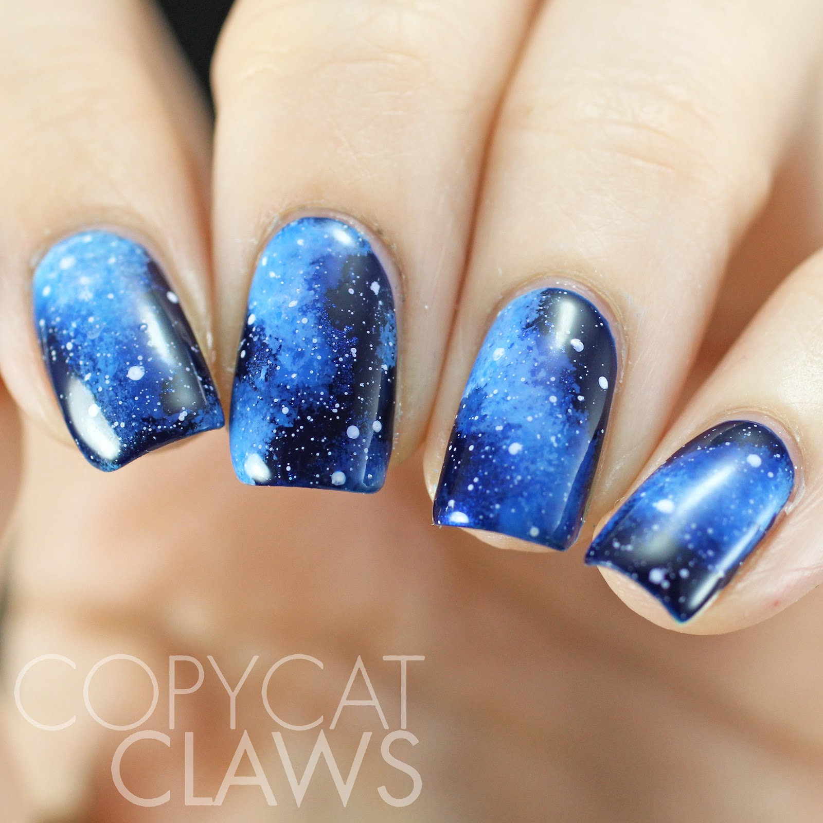 Copycat claws the hitchhikers guide to the galaxy nail art then so i didnt just do galaxy nails i used my favourite part of the book about the whale and the bowl of petunias if you havent read it or dont prinsesfo Choice Image
