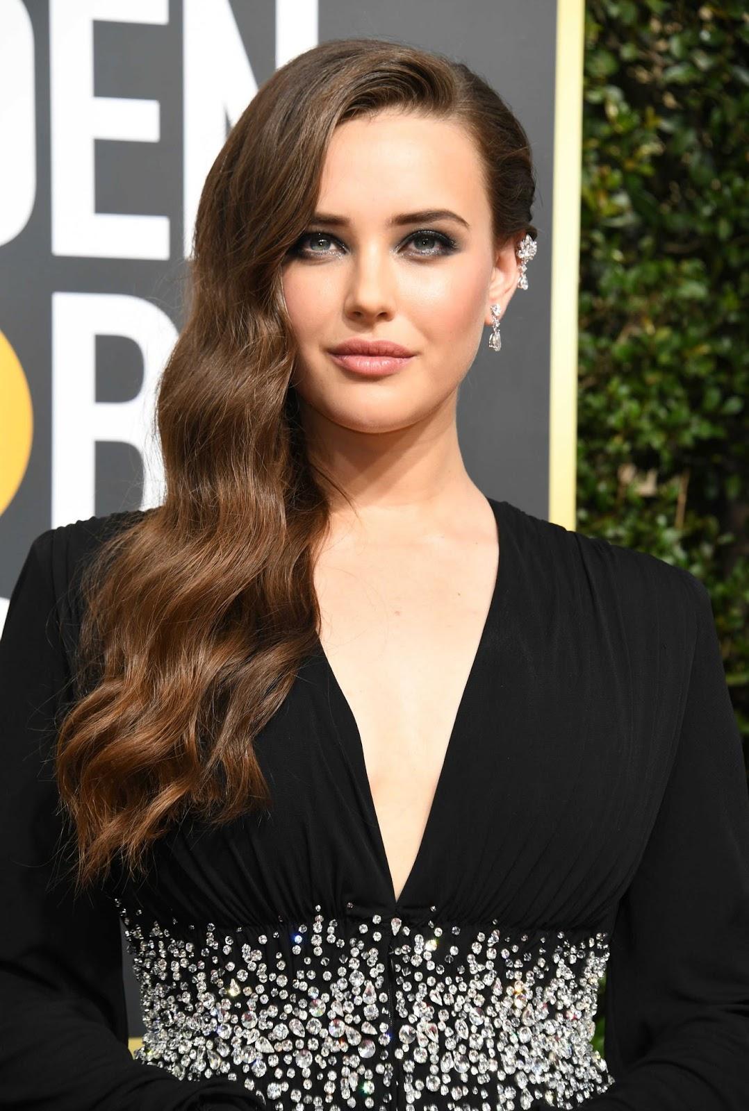Katherine Langford Dress Posing at  Golden Globe Awards