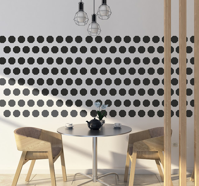 decoratieve muursticker octagon