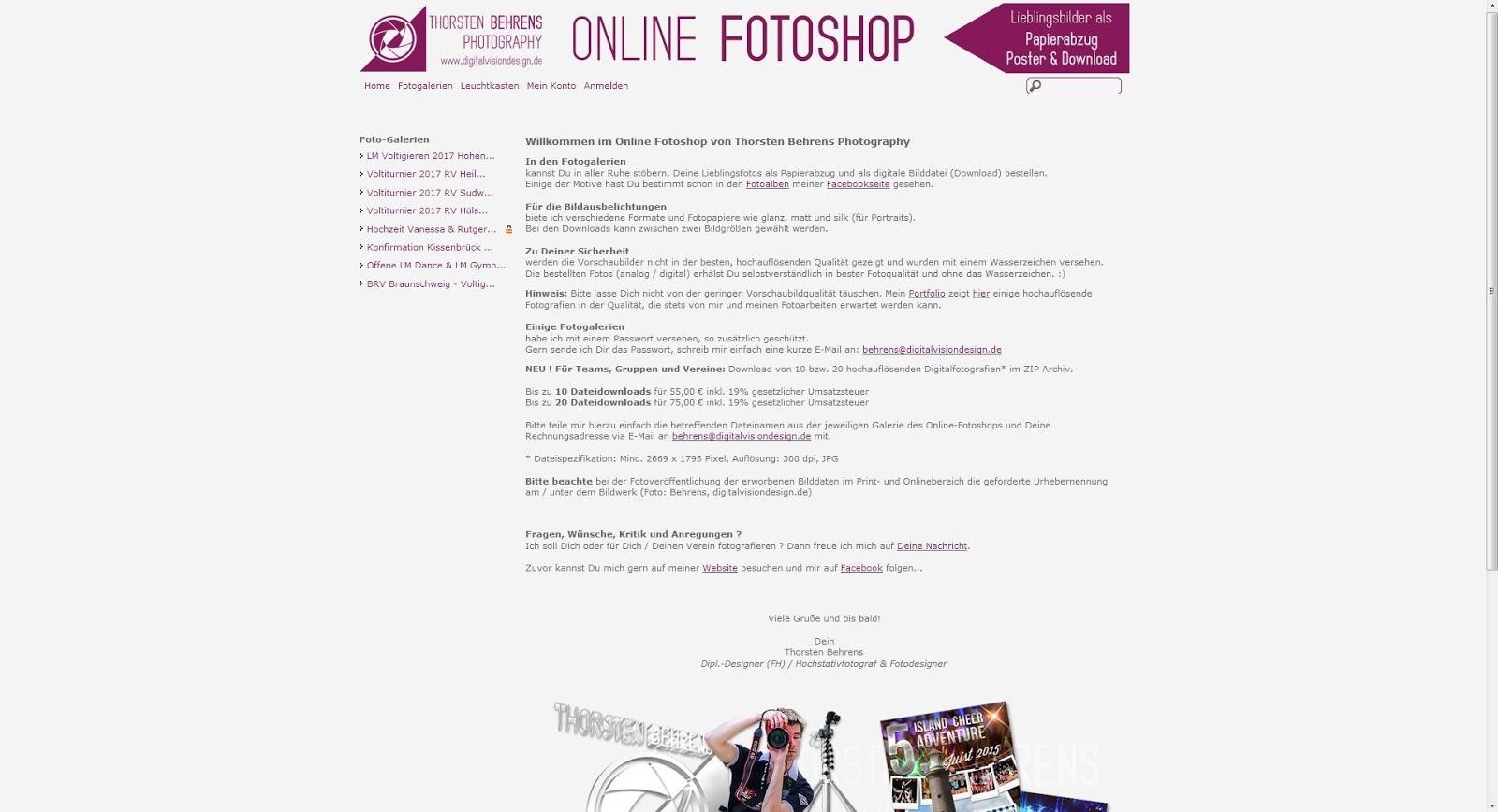 Deine Voltifotos als ganz bequem online als Fotoabzug, Fotoposter, Fotosticker oder als Datei schnell und sicher im Online Fotoshop von Thorsten Behrens Photography bestellen - http://digitalvisiondesign.fotoportopro.de