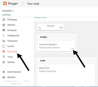 Cara logo dan Judul blog Blogger