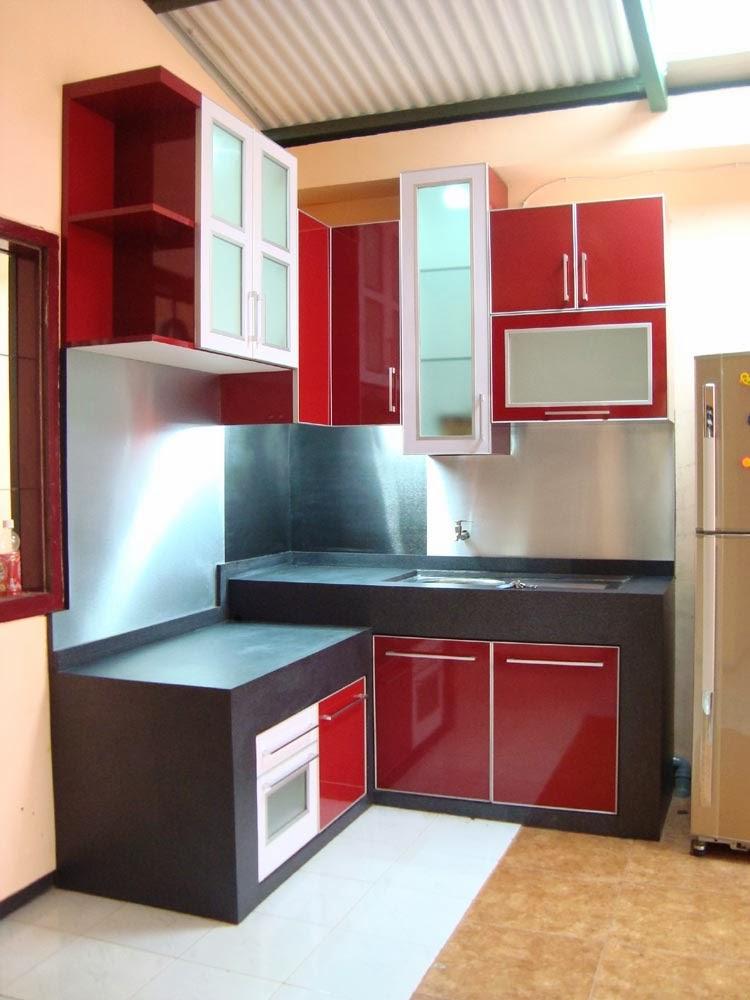 40 Contoh Dapur Warna Merah Yang Nampak Cantik Bergaya Modern - 3000+ Rumah Minimalis Berbagai ...