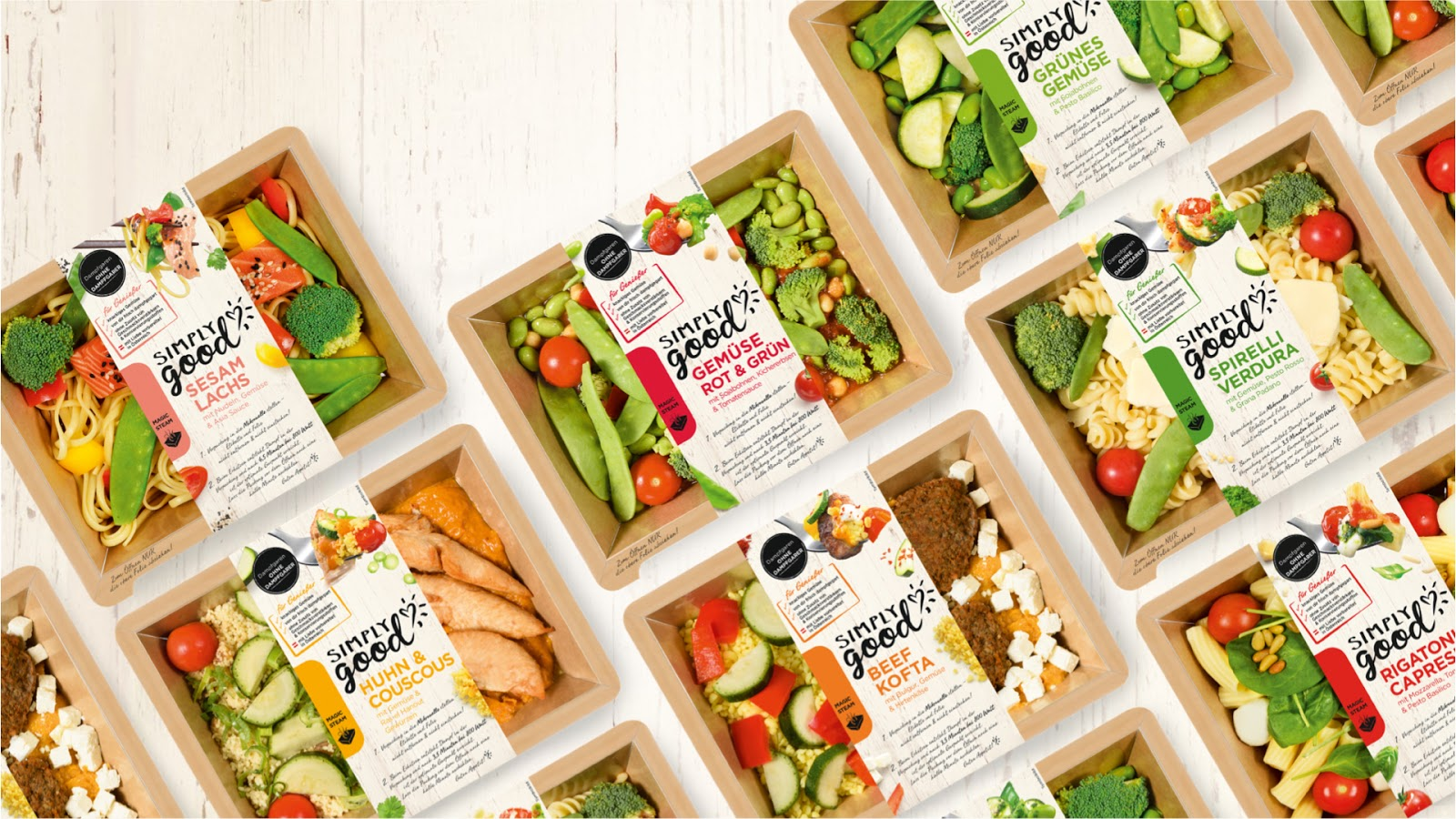 Simply good on packaging of the world creative package for Cuisine to go