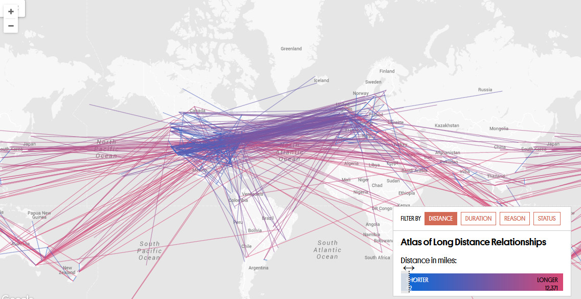 The Ultimate Crowdsourced Map of Long Distance Relationships