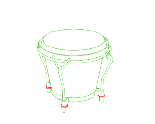 HOW TO DRAW A BongoDrum