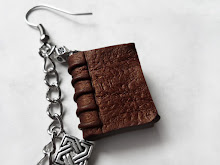 Antique Book Polymer Clay Charm Jewelry