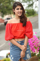 Rhea Chakraborty in Red Crop Top and Denim Shorts Spicy Pics ~  Exclusive 098.JPG