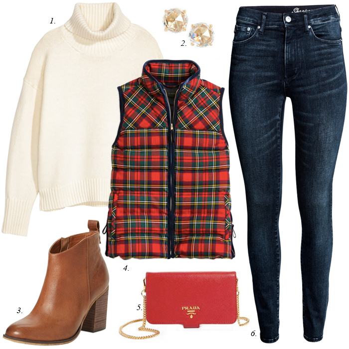 old navy plaid vest