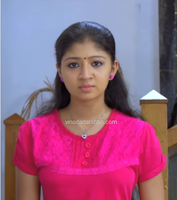 Nandana actress as Nitha in Bhramanam serial