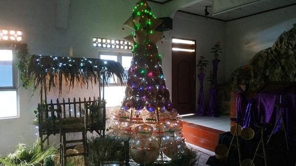 pohon natal unik gkp tangerang 2018