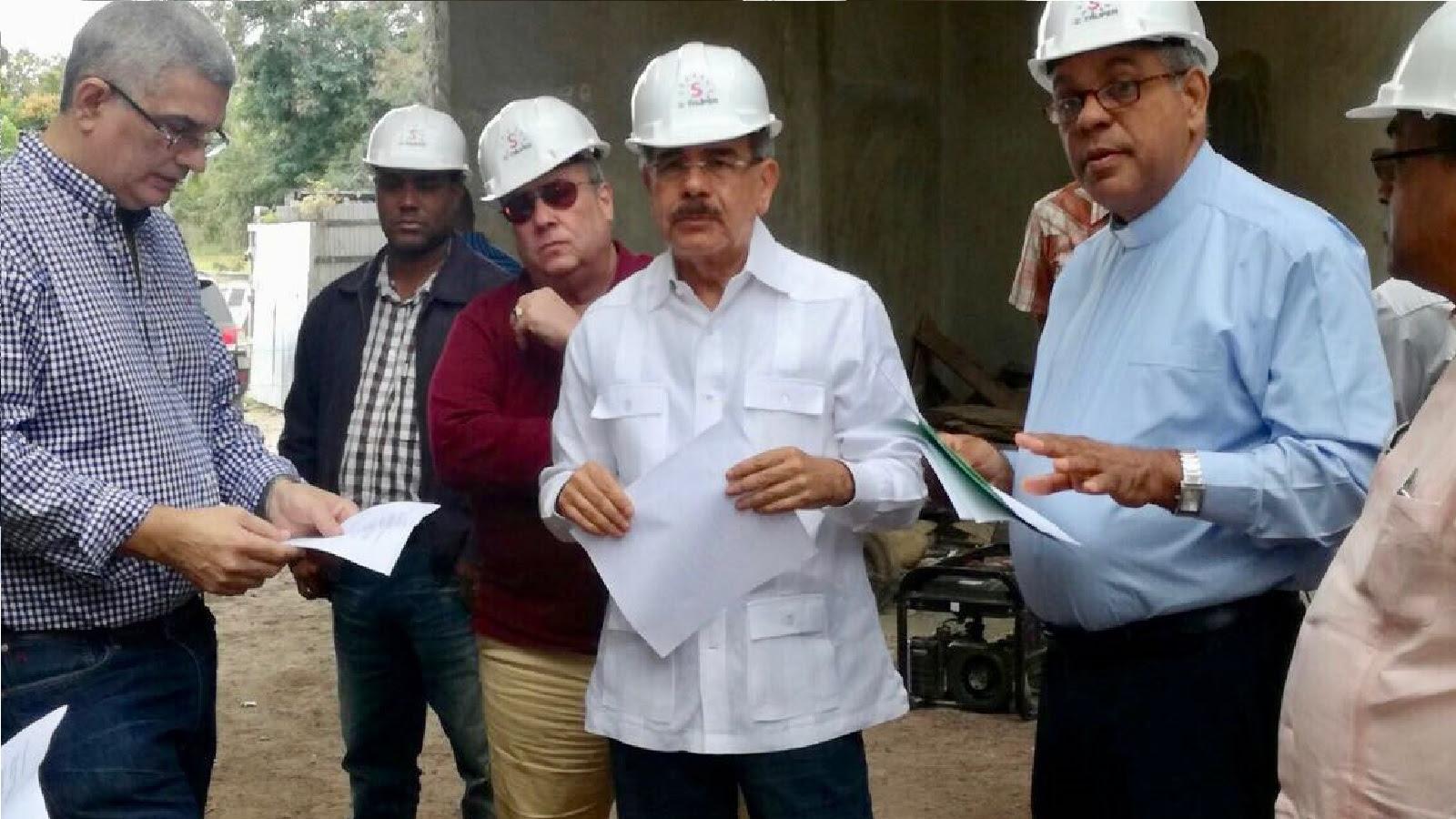 Danilo Medina supervisa construcción trabajos Santuario Santo Cristo de Bayaguana