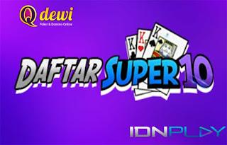 Kartu Tertinggi Judi Super10 QDewi