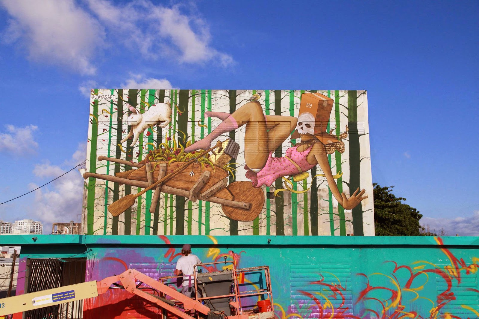 Our friend David Zayas was also part of the excellent Fifth edition of Santurce Es Ley Street Art Festival in San Juan, Puerto Rico.