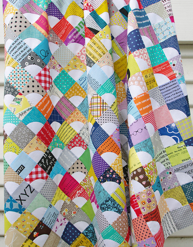 Drunkard's Path Variation Quilt | Red Pepper Quilts