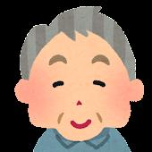 お爺さんの顔アイコン 6