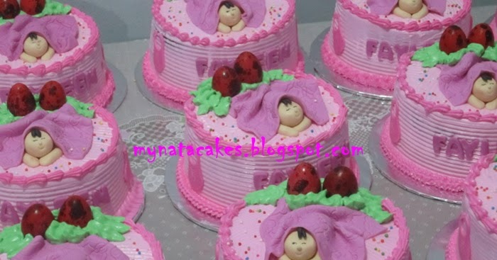 Mynata Cakes Baby One Month Cake For Fayleen