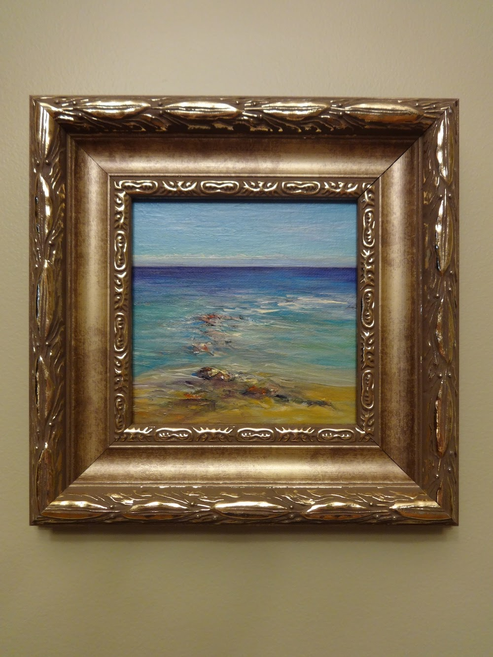 this impressionist style painting is available in the framed and matted section of my online gallery ornate frames are not to everyones taste
