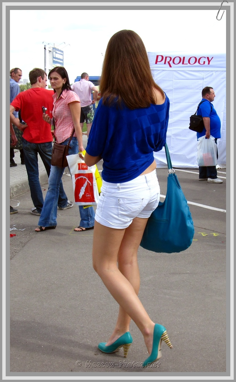 White Shorts Casual Street Look