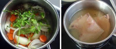 Cocer en caldo corto