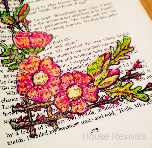 House revivals how to draw pretty flowers on a trellis for paper i rarely grab my nice materials i just pull some pages out of an old readers digest condensed book mightylinksfo