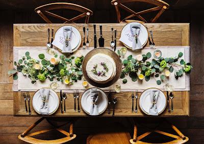Mesa rectangular de boda