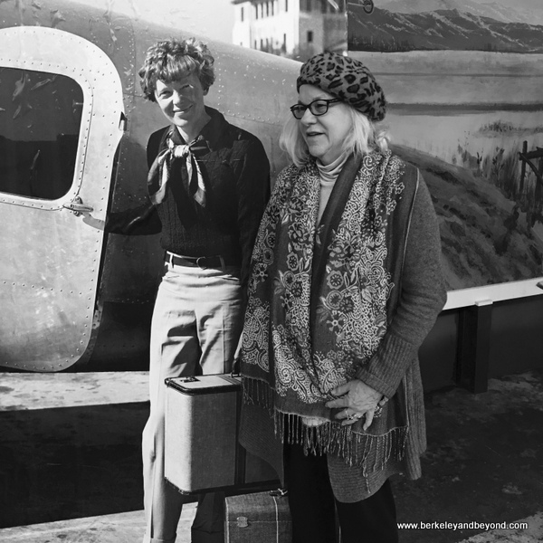 Amelia and Carole prepare for takeoff at Oakland Aviation Museum in Oakland, California
