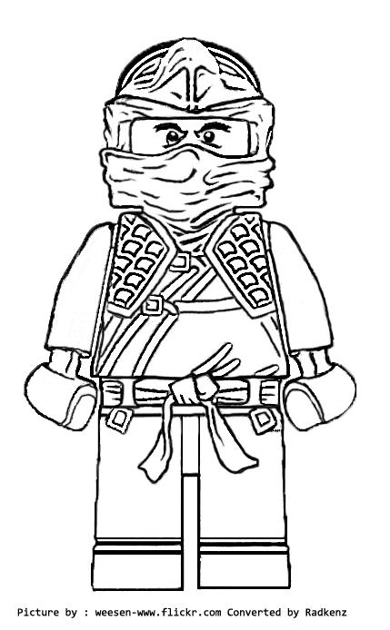 Radkenz Artworks Gallery: Lego ninjago cole ZX coloring page