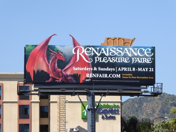 Renaissance Pleasure Faire 2017 dragon billboard