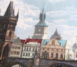 вышивка крестом Прага Карлов мост