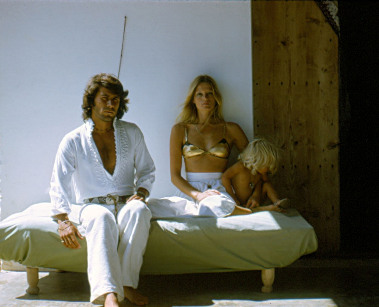 Willy Van Rooy in family self-portrait. Ibiza, 1970s. | fashion, model, 70s, Spain, Ibiza, travel, aesthetic, summer, gold swimsuit, lifestyle, bohemian, chic style, vintage | Allegory of Vanity