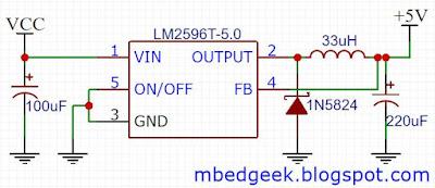 LM2596 Buck Converter Schematic