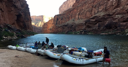 Rafting no Grand Canyon - dia 1 de 6 (16/05/2017)