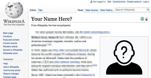 Make a Wikipedia Page