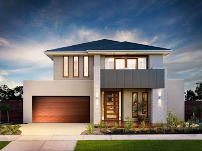 modern house front designs for double storey home