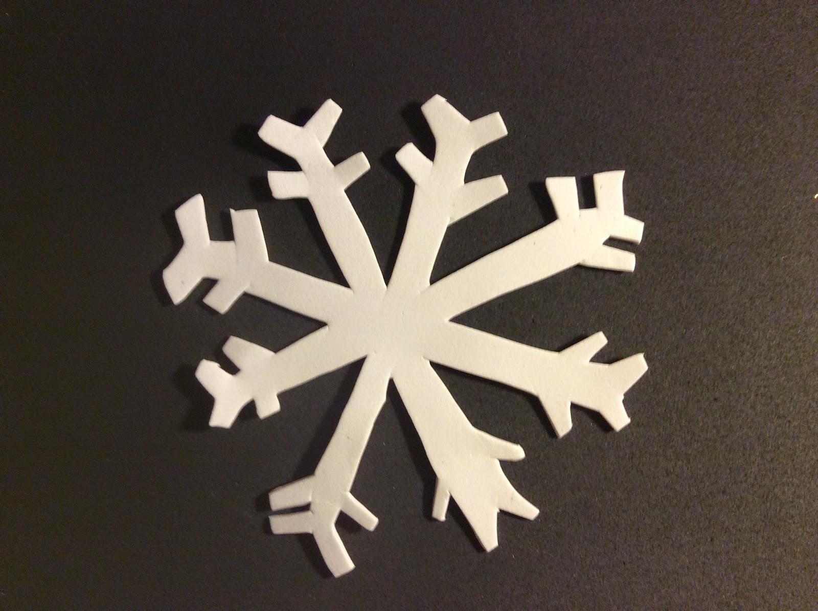 Disfruta De Las Manualidades Copo De Nieve Goma Eva