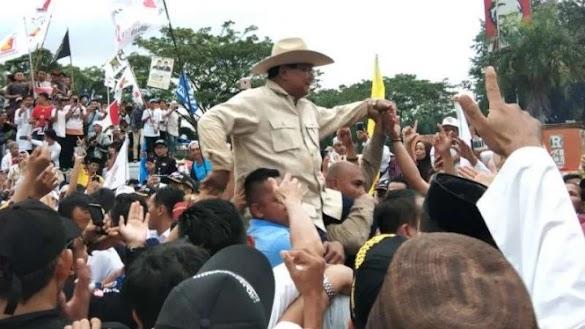 Pendukung Prabowo di Palembang: Wong Kito Galo Cucok Nomor Duo